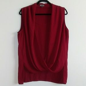 Vince Camuto Sleeveless Top Burgundy size Large